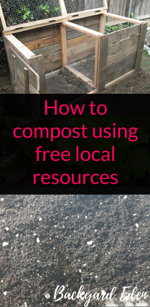 How to compost using free local resources, compost, Backyard Eden, www.backyard-eden.com