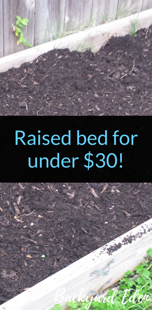 Raised bed for under $30!, Easy raised bed, diy raised bed, Backyard Eden, www.backyard-eden.com, www.backyard-eden.com/raised-bed-under-30/