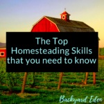 The Top Homesteading Skills that you need to know, homesteading skills, Backyard Eden, www.backyard-eden.com, www.backyard-eden.com/the-top-homesteading-skills