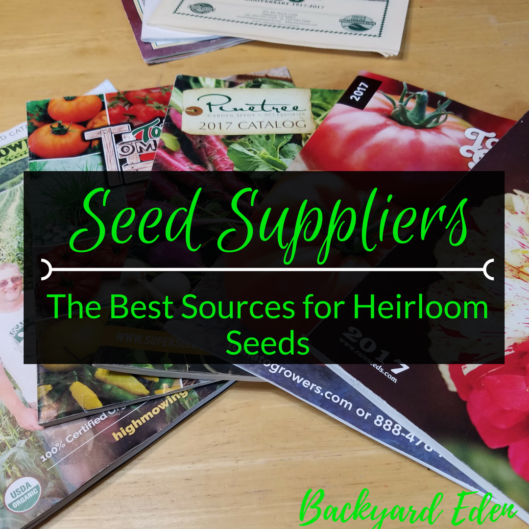 Online Seed Suppliers, Seed Suppliers - the best sources for heirloom seeds, Backyard Eden, www.backyard-eden.com, www.backyard-eden.com/seed-suppliers-the-best-source-heirloom-seeds