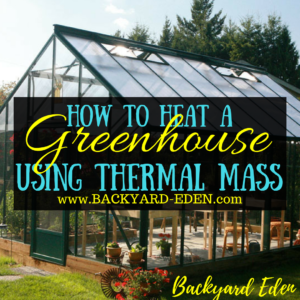 How to heat a greenhouse using thermal mass, heat a greenhouse, thermal mass, Backyard Eden, www.backyard-eden.com, www.backyard-eden.com/how-to-heat-a-greenhouse-using-thermal-mass