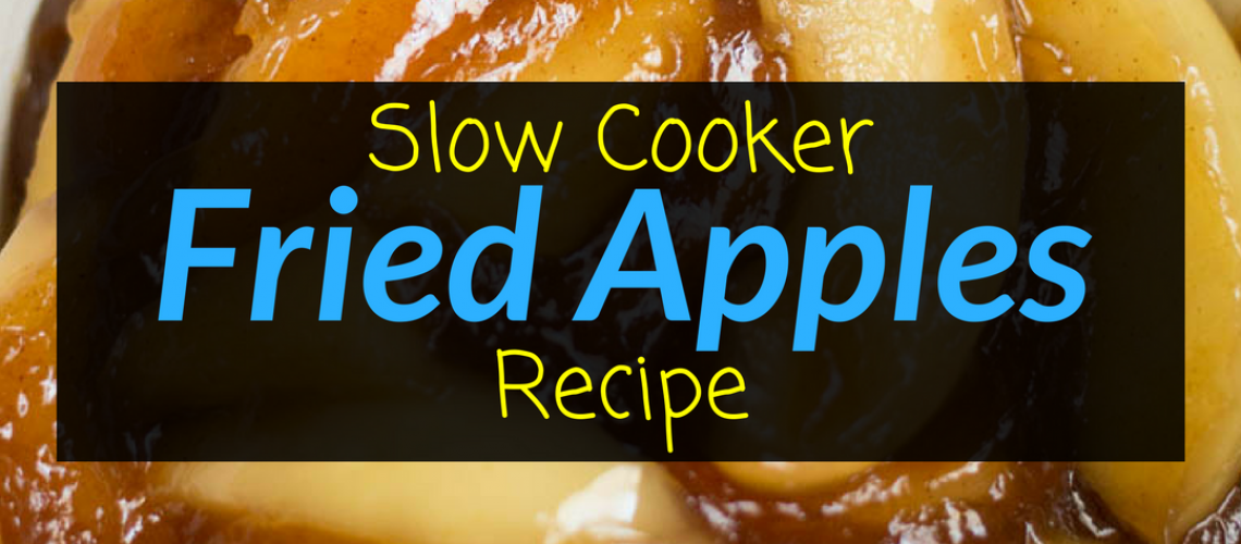 Slow Cooker Fried Apples Recipe, Apple Recipes, Fried Apples, Backyard Eden, www.backyard-eden.com, www.backyard-eden.com/slow-cooker-fried-apples-recipe